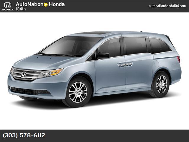 2012 Honda Odyssey EX-L alabaster silver metallic gray  seat trim front wheel drive power steeri
