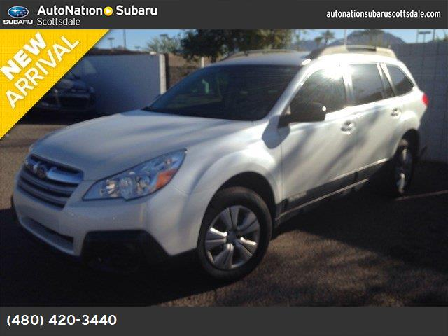 2013 Subaru Outback 25i auto-dimming mirror wcompass  homelink black striated  cloth seat trim
