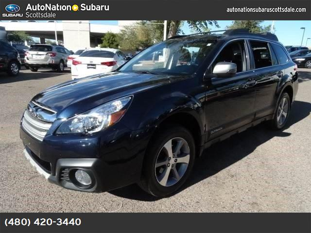 2014 Subaru Outback 25i Limited saddle brown  leather-trimmed upholstery all wheel drive power s