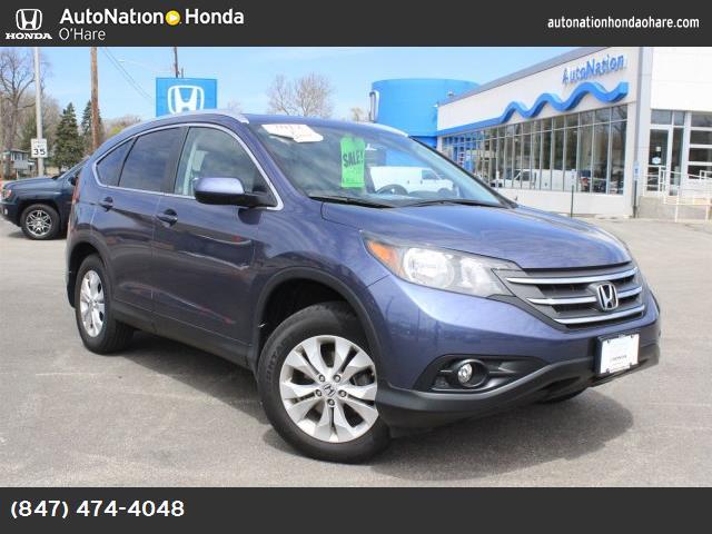 2012 Honda CR-V EX-L gray  seat trim twilight blue metallic front wheel drive power steering 4-