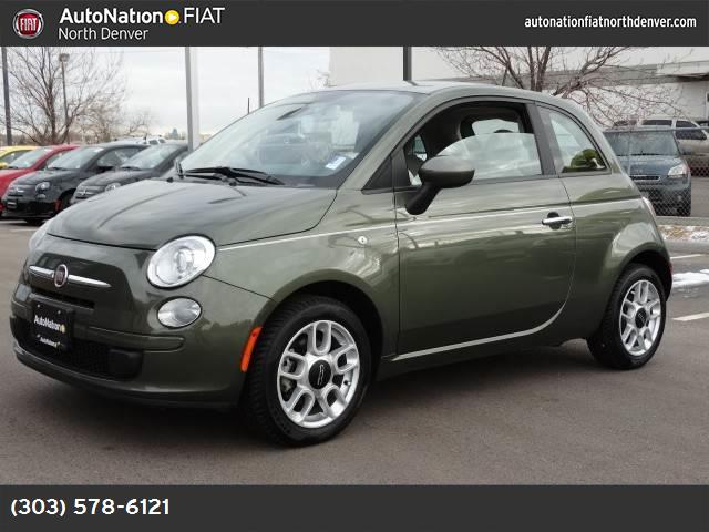 2013 FIAT 500 Pop 14l 16-valve i4 multi-air engine  std black interior  cloth bucket seats fro