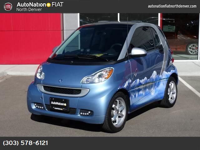 2012 Smart fortwo Pure light blue metallic rear wheel drive manual steering front discrear drum
