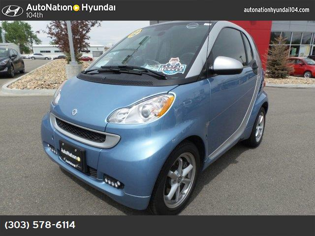 2012 Smart fortwo Pure light blue metallic rear wheel drive manual steering front discrear drum