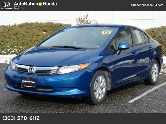 2012 Honda Civic Sdn LX traction control stability control abs 4-wheel air conditioning power