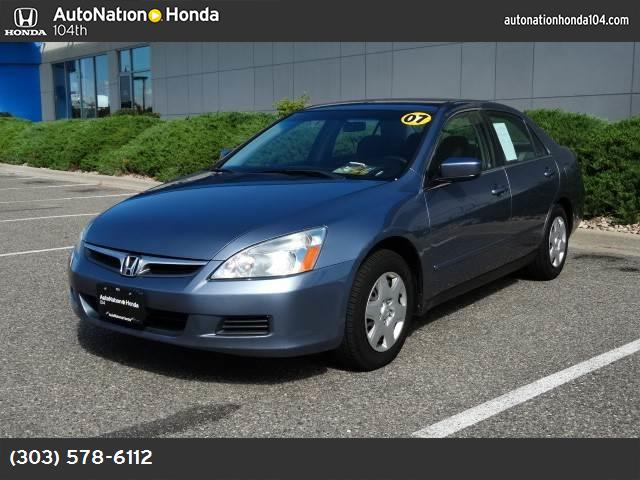 2007 Honda Accord Sdn LX abs 4-wheel air conditioning power windows power door locks cruise c