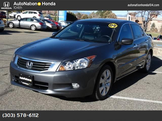 2009 Honda Accord Sdn EX-L gray  seat trim front wheel drive power steering 4-wheel disc brakes