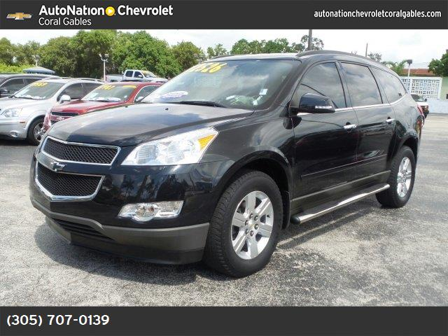 2012 Chevrolet Traverse LT w1LT black granite metallic ebony  premium cloth seat trim engine  3