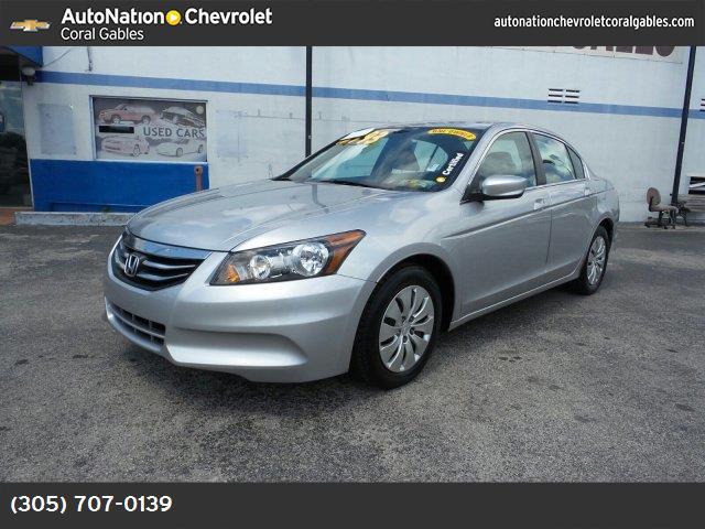2012 Honda Accord Sdn LX alabaster silver metallic gray  seat trim front wheel drive power steer