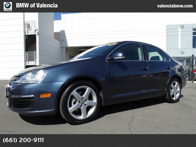 2010 Volkswagen Jetta Sedan TDI blue graphite metallic rear side airbags titan black  v-tex leath