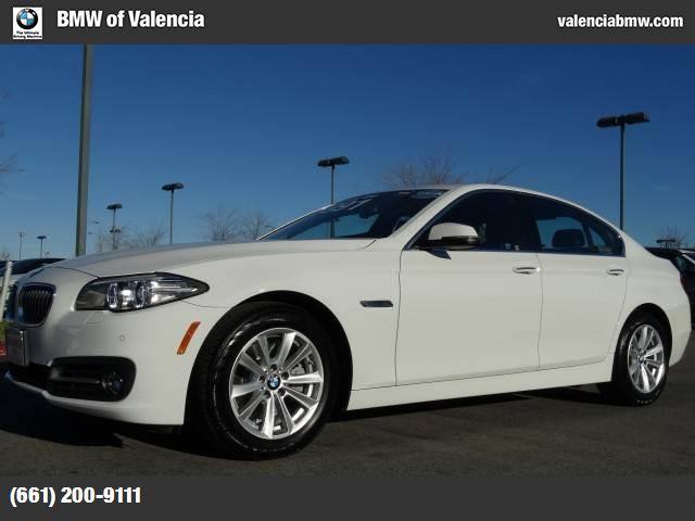 2015 BMW 5 Series 528i alpine white black  dakota leather upholstery dark wood trim heated front