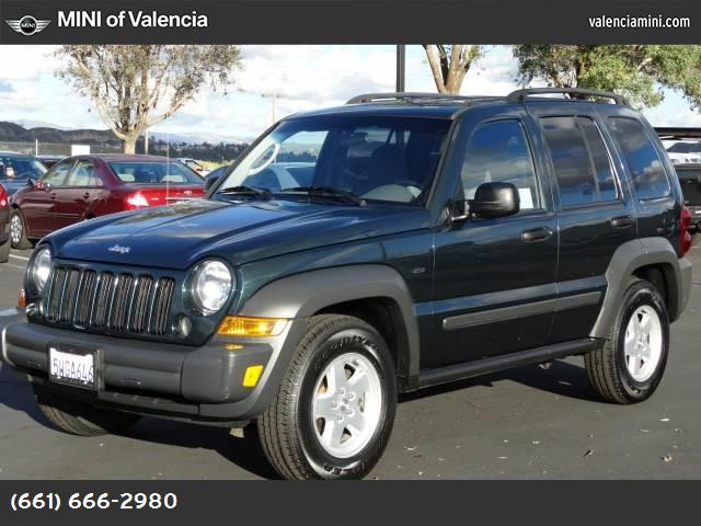 2006 Jeep Liberty Sport 37l v6 engine  std traction control stability control rear wheel driv