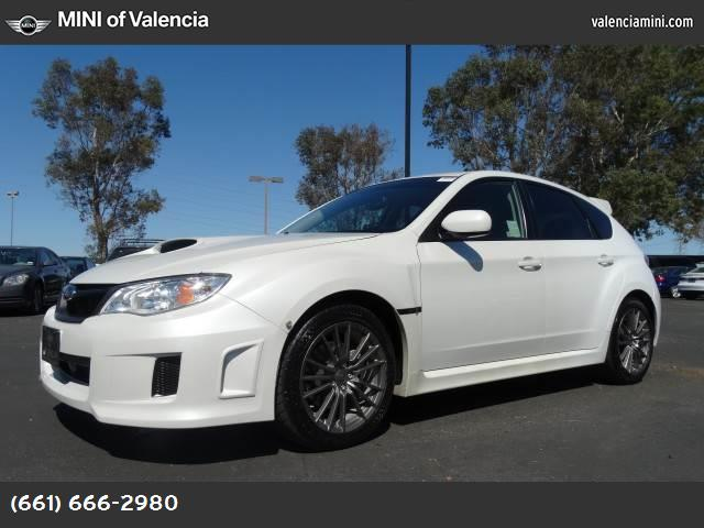 2012 Subaru Impreza Wagon WRX WRX carbon black  checkered cloth seat trim satin white pearl turbo