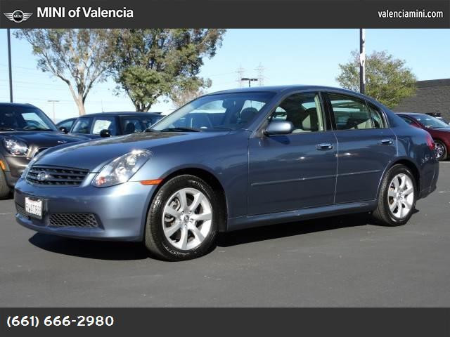 2005 Infiniti G35 Sedan  traction control stability control rear wheel drive tires - front perfo