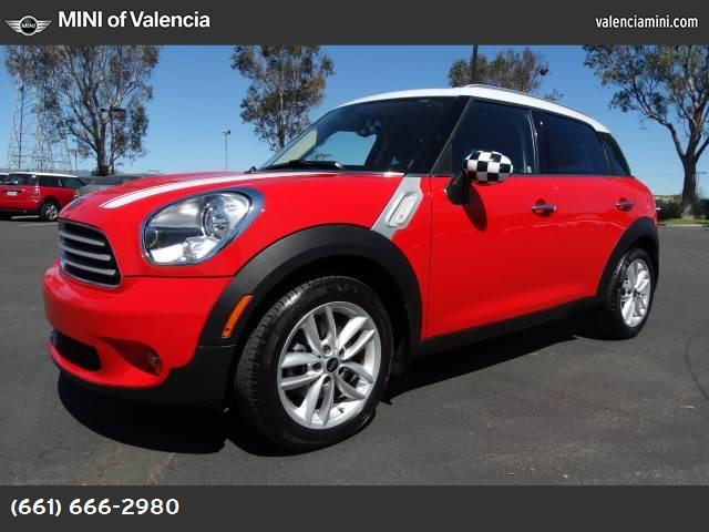 2011 MINI Cooper Countryman  pure red front wheel drive keyless start power steering 4-wheel di